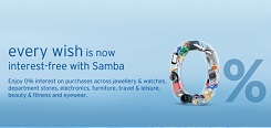 Enjoy 0% interest with Samba Installment Plan (SIP)